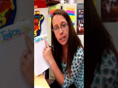 "Interactive Notebook ""Cuaderno"" Setup Video"