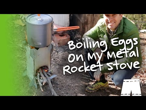 How To Boil Eggs With My DIY Metal Rocket Stove