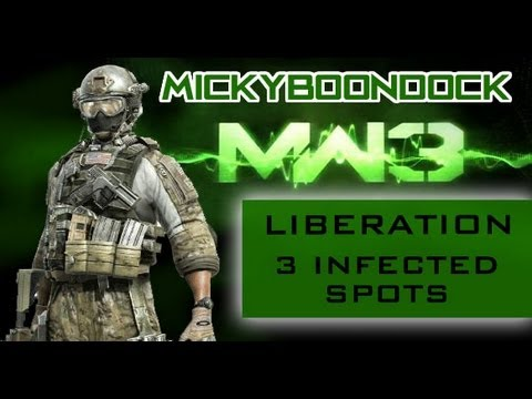 MW3 Glitches - 3 Amazing Liberation Infected Spots | Tricks and Jumps