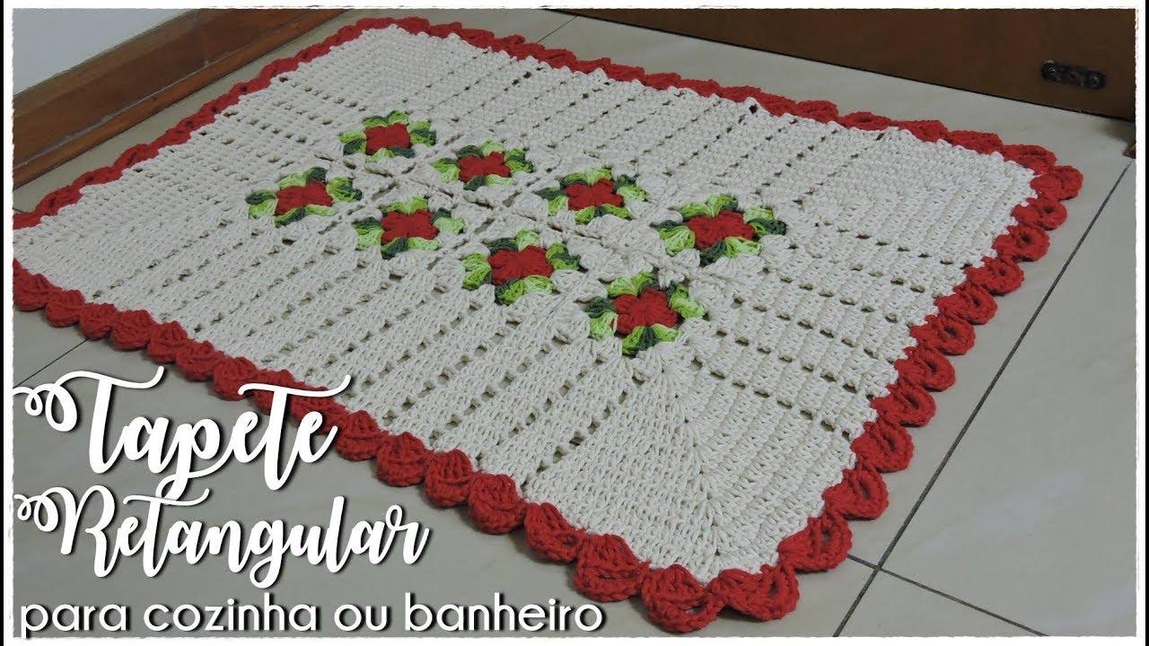 Imagens De Croche Para Cozinha Jogo De Cozinha Em Barbante Com  -> Tapete De Barbante Com Luiza De Lugh
