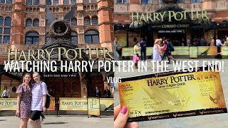 WATCHING HARRY POTTER IN THE WEST END! | VLOG | Georgie Ashford