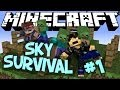 "Minecraft - ""SKY SURVIVAL"" Part 1: Zombie Hell"