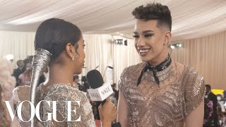 James Charles on Going Outside His Comfort Zone for the Met Gala | Met Gala 2019 With Liza Koshy