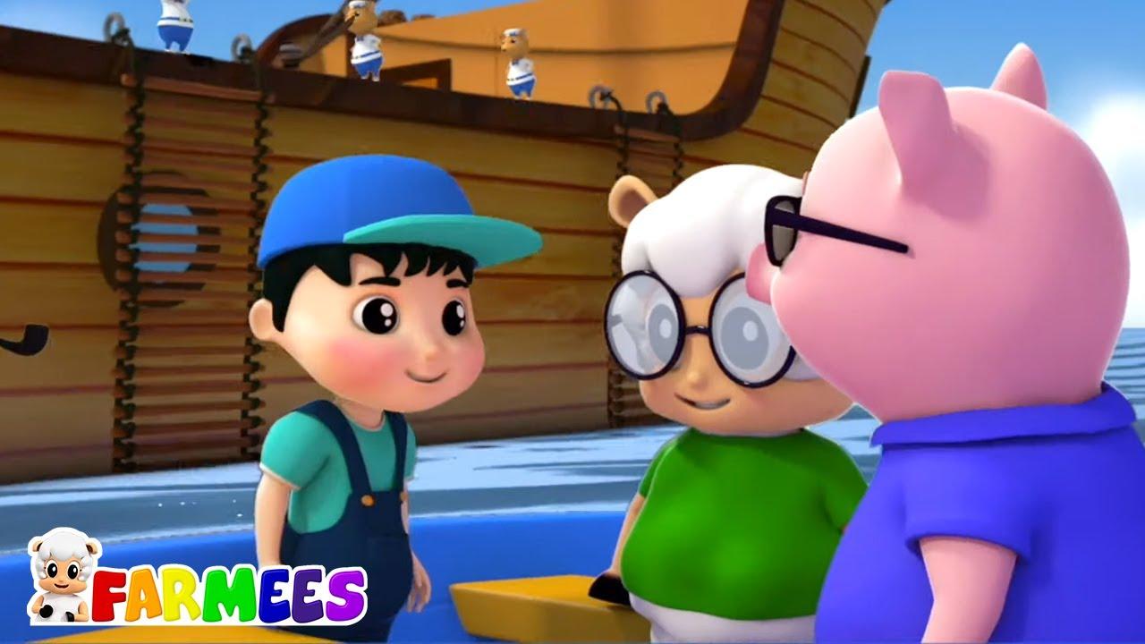Vi un barco navegando | Canciones Infantiles | Farmees Español | Videos educativos | Preescolar