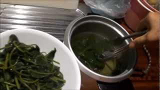 Harvesting And Cooking Sweet Potato Leaves