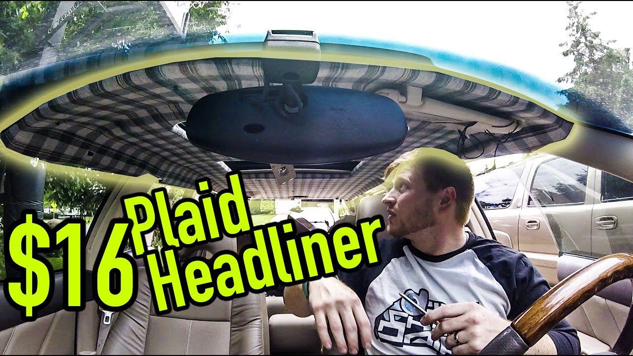 How To Reupholster Your Headliner Youtube