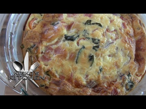 SWISS CHEESE & TOMATO FRITTATA - Nicko's Kitchen