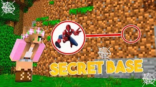 HOW to SNEAK into SPIDERMANS SECRET BASE! | Minecraft Little Kelly