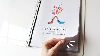 Putting Together My Illustration Portfolio! | Flip Through & How To