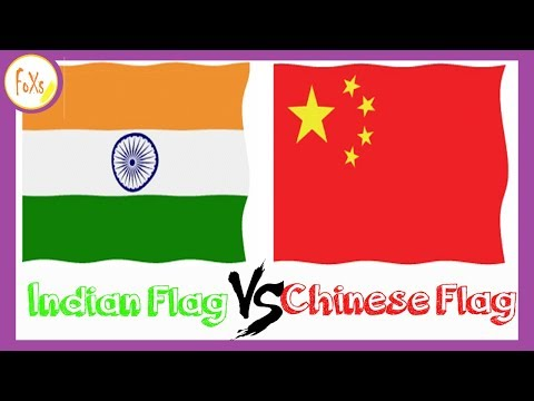 Indian Flag vs Chinese Flag - {Comparison} - [Hindi/Chinese - Subs]