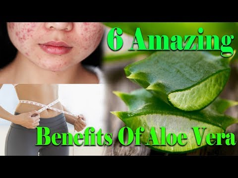 6 Amazing Benefits Of Aloe Vera For Hair, acne skin care And Weight Loss - 동영상