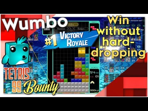 """Tetris 99 Bounty - """"Win a game without hard drops"""""""