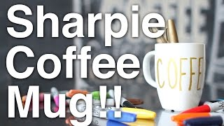 DIY Sharpie Coffee Mug!!(Using the awesome power of Sharpie markers, learn how to personalize your regular coffee mug into something more personal in this DIY tutorial. Speciality ..., 2014-09-03T04:37:13.000Z)
