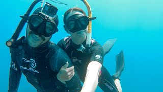 Our First Time FREEDIVING together! We Got a BABYSITTER! Ep. 205