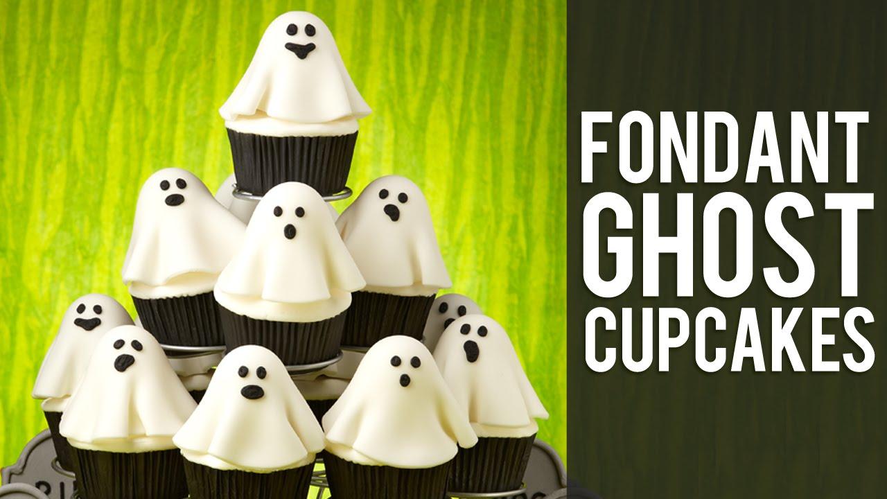 Fondant Halloween Decorations.How To Make Fondant Ghost Cupcakes Halloween Cupcakes Youtube