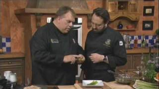 Part 1 - Grilled Asparagus And Blue Cheese Salad - Chefs Nick Stellino And Kent Rathbun