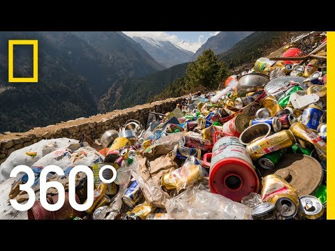 Clearing Everest's Trash - 360   National Geographic