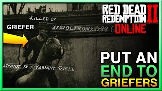 HOW TO MAKE GRIEFERS RAGE QUIT in Red Dead Redemption 2 Online! STOP RDR2 Online Griefers Now! RDR2