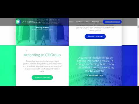 [eng] ICO Akropolis. Blockchain Pensions Infrastructure