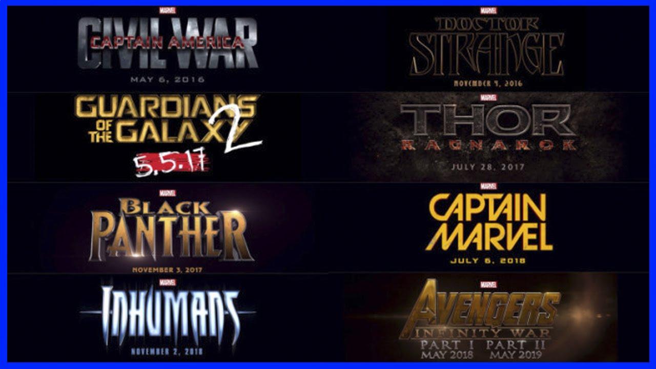 Фильмы марвел с 2018 по 2020