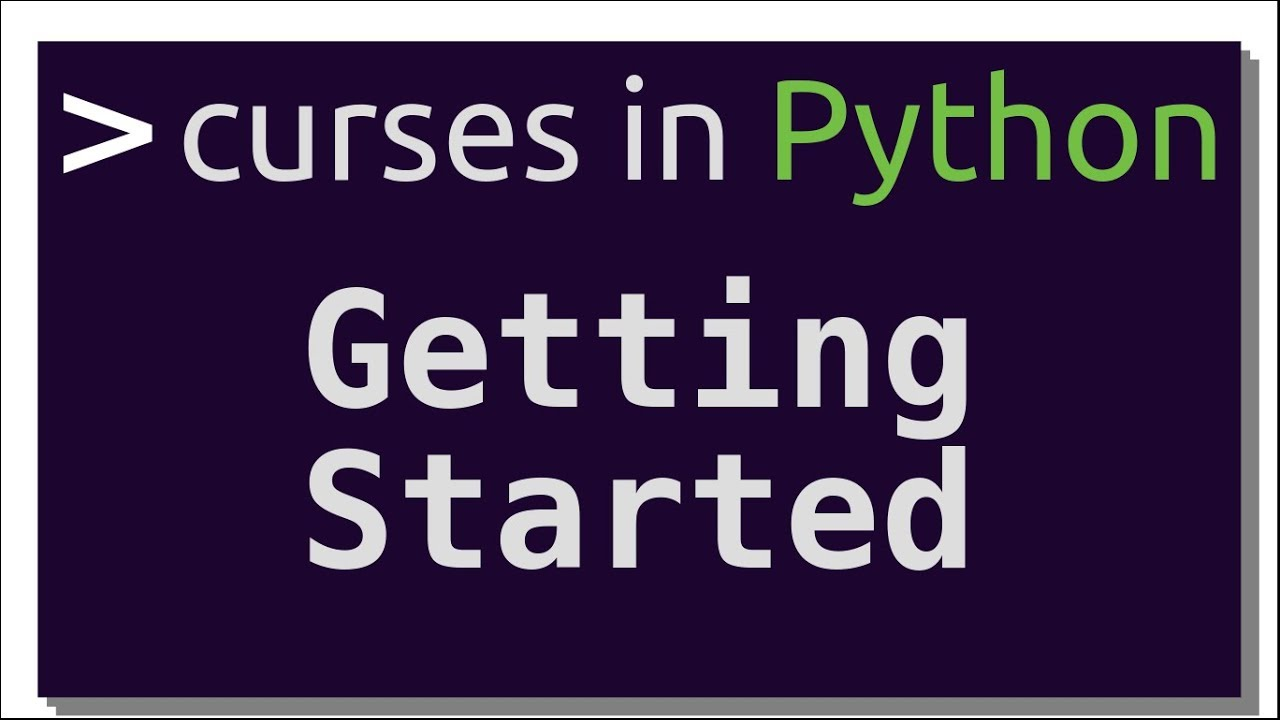 Getting Started with curses in Python | Intro to curses in Python (Part-1)
