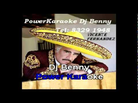 A PUROS BESOS - Vicente Fernandez Voz Power Karaoke.MPG