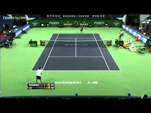 Andy Roddick vs Yen-Hsun Lu  Shanghai 2011   short highlights