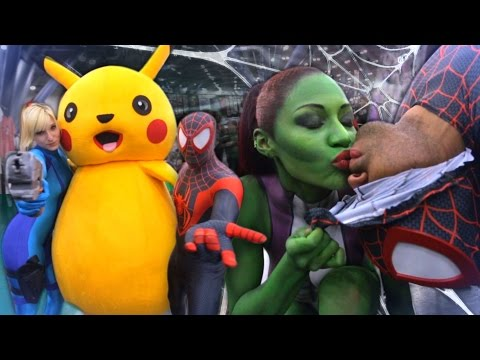 Spider-man Miles Morales Vs ComicCon 2015 Vs Pretty Ladies ft. Meanmug713
