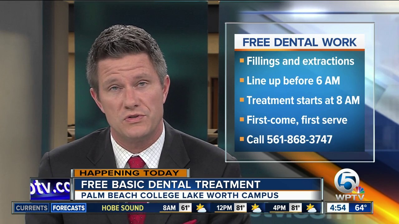 Free basic dental treatment at Palm Beach State College in Lake Worth