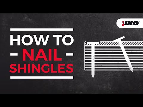 Nailing Shingles Properly - How To Nail Roof Shingles  - IKO