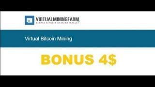 NEW V RTUALM N NGFARM BONUS 4 100 GHs за регистрацию Майнинг Bitсoin