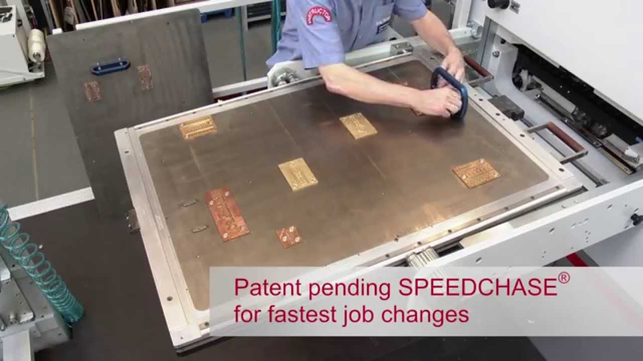 BOBST SPEEDCHASER Chase For Quick Tool Changes On EXPERTFOIL 104 FR Hot Foil Stamper