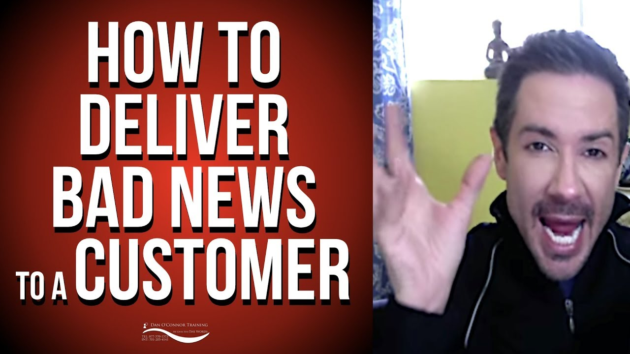 how to deliver disappointing news to a customer customer service how to deliver disappointing news to a customer customer service skills training video