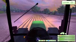 John Deere 7810 cultivating with 6610 Drilling Farming simulator 2013