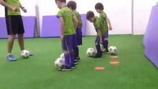 """Пробная тренировка. спортивная секция - футбол """"Футбик"""" Section football for children."""