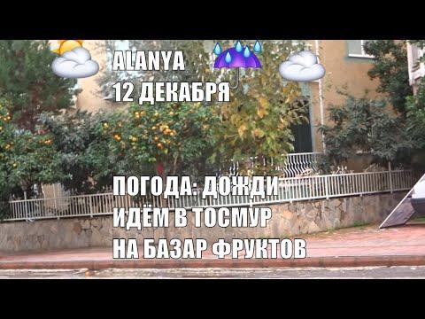 Alanya 12 декабря Дожди дожди дожди Погода осенняя