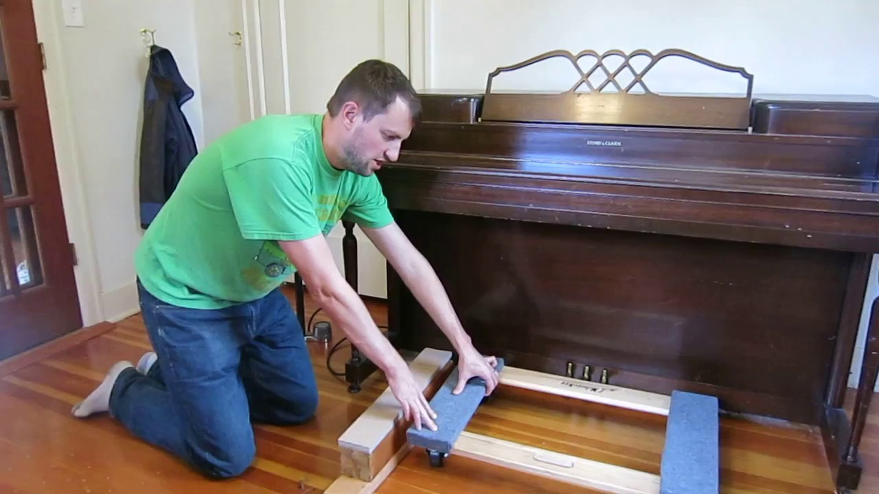 How to move a baby grand piano - YouTube