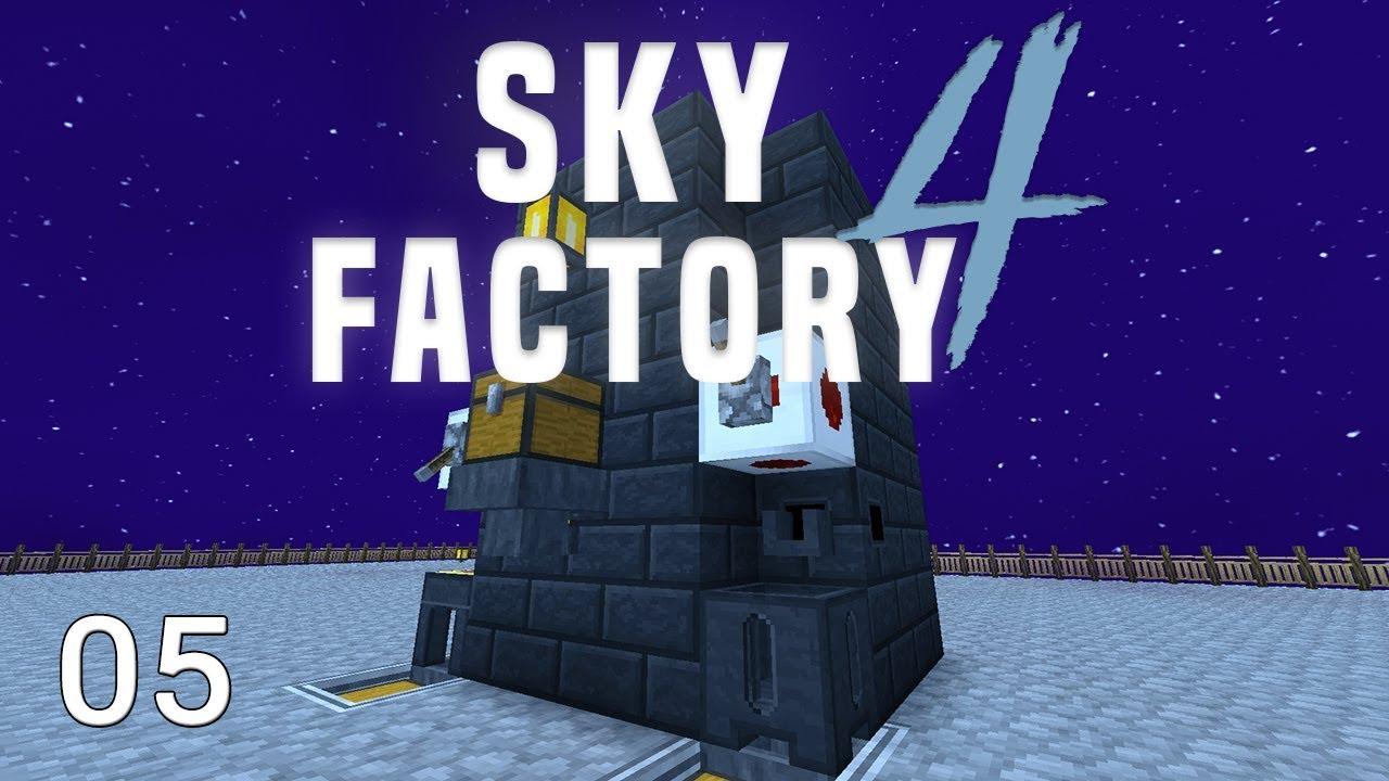 Sky Factory 4 Lava + Mob Farm Automation
