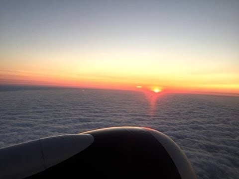 Watching The Sunrise Aboard An AIR CANADA Flight To Halifax