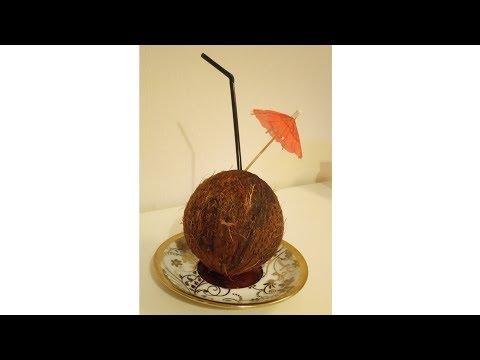 Райское наслаждение ! Ром в кокосе 🌴 Коктейль Пина колада 🍍 Как открыть кокос?