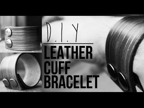 Diy Leather Cuff Bracelet How To Jairwoo Youtube