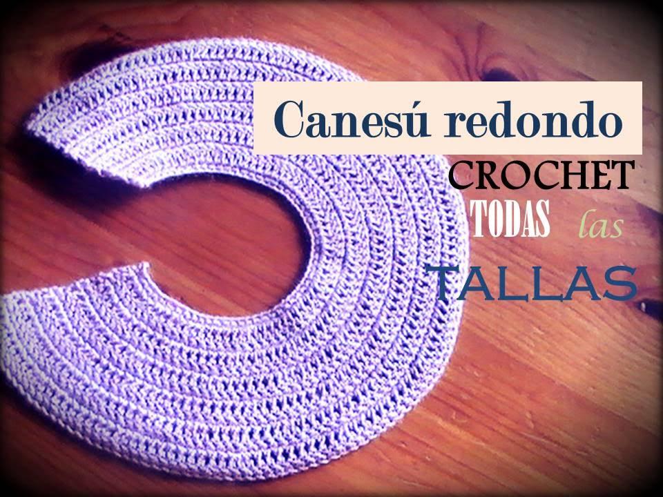 Canesú REDONDO a crochet: como tejerlo en TODAS LAS TALLAS (diestro ...