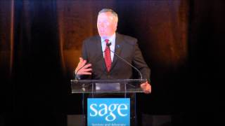 SAGE Executive Director Michael Adams at the 2013 SAGE Awards