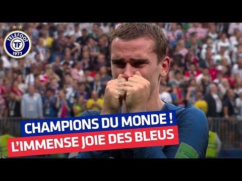 Coupe du monde : la joie des Bleus après la victoire