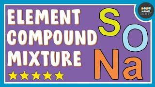Element, Compound and Mixture   Element, Compound and Mixture Class 9   Element Vs Compound