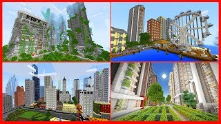 Minecraft PE Maps - TOP 5 BEST CITY MAPS with Download - MCPE 1.1 / 1.0 iOS Android