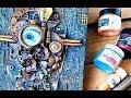 Mixed Media canvas, using Finnabair's products -  with Ola Khomenok
