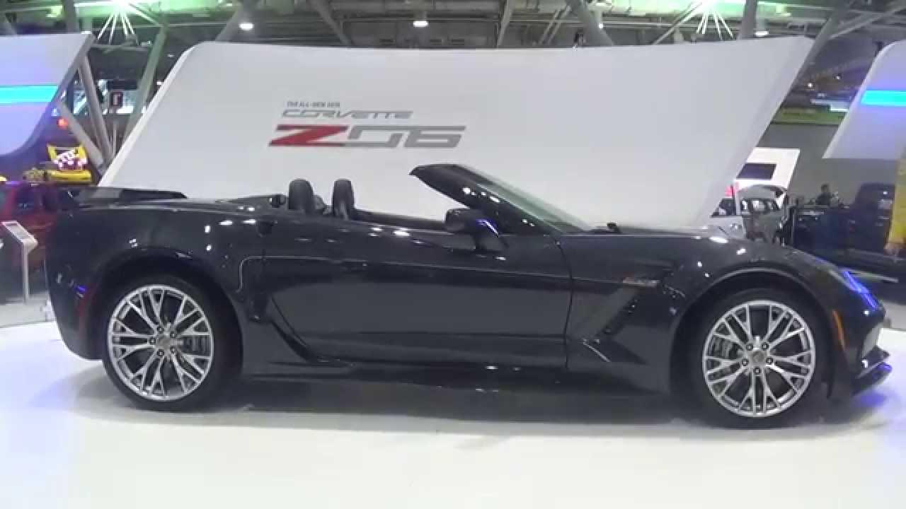 2015 corvette c7 z06 convertible on turntable youtube - Corvette 2015 Z06 Black