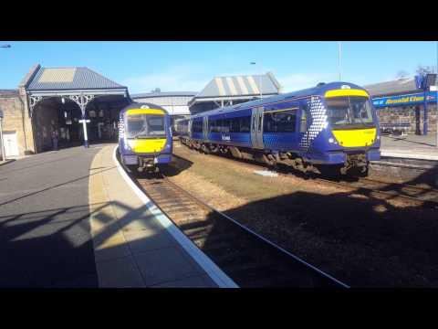 Trains at Perth (Fife Diverts) Highland Mainline 25/3/17