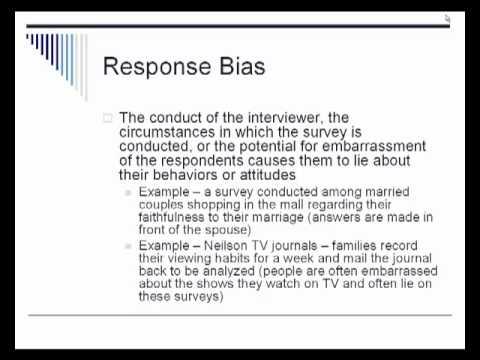 AP Statistics Chapter 12 - Sample Surveys and Bias - YouTube